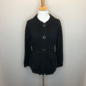 Vince. 3 Button And Belted Black Cardigan size L